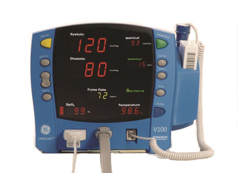 blood pressure and rate machine